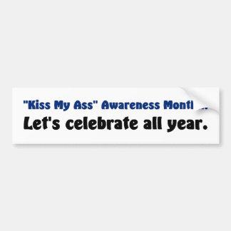 I celebrate all awareness months car bumper sticker