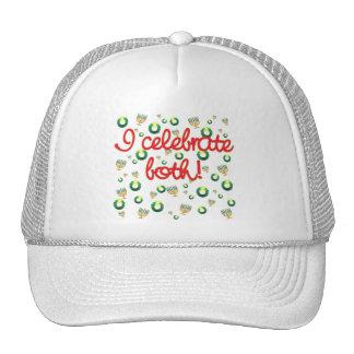 I Celebrate Both Christmas and Hanukkah Trucker Hat