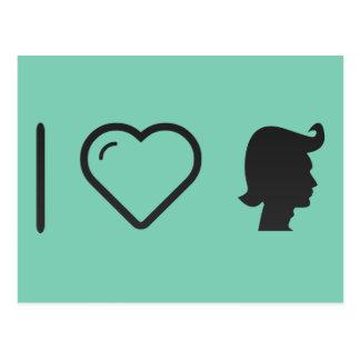 I ceras del pelo del corazón postales