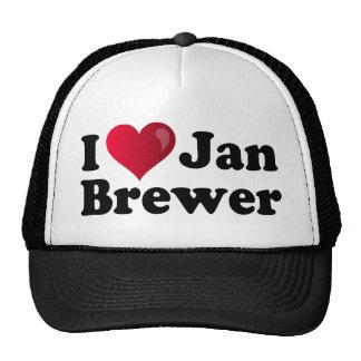I cervecero de enero del corazón gorros bordados