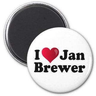 I cervecero de enero del corazón imán de frigorifico