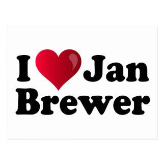 I cervecero de enero del corazón tarjeta postal