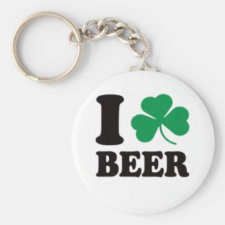 I cerveza del trébol llaveros personalizados