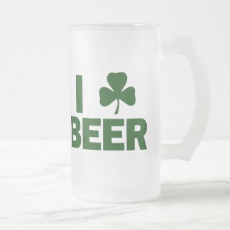 I cerveza del trébol taza cristal mate