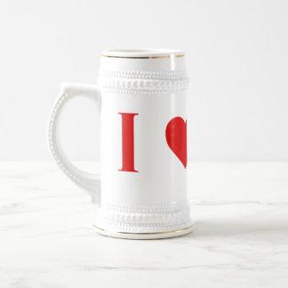 I cerveza Stein de Marte del corazón Jarra De Cerveza