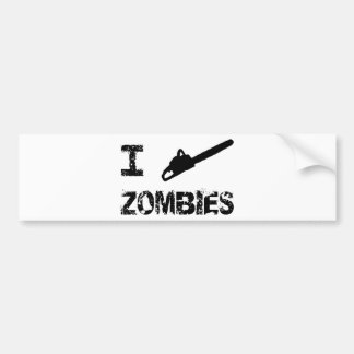 I Chainsaw Zombies Bumper Sticker