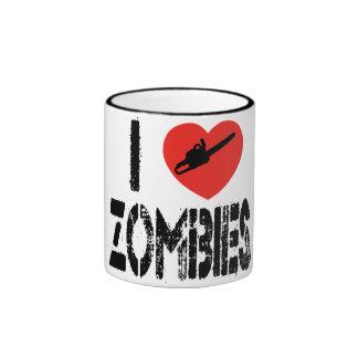 I Chainsaw Zombies Ringer Mug
