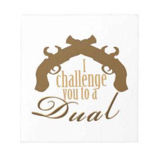 I Challenge You Scratch Pad