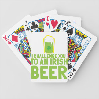 I Challenge you to an IRISH BEER Bicycle Playing Cards