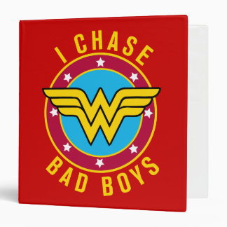 I Chase Bad Boys 3 Ring Binder