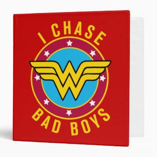I Chase Bad Boys 3 Ring Binders