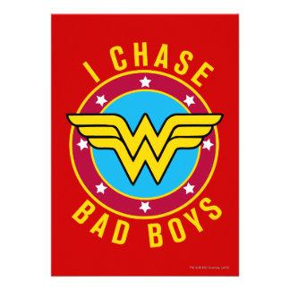 I Chase Bad Boys Custom Invitation
