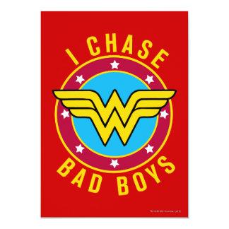 I Chase Bad Boys 5x7 Paper Invitation Card