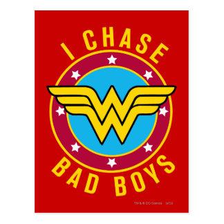 I Chase Bad Boys Postcard