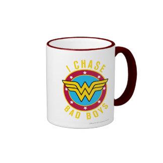I Chase Bad Boys Ringer Mug