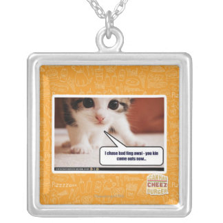 I chase bad fing awai silver plated necklace