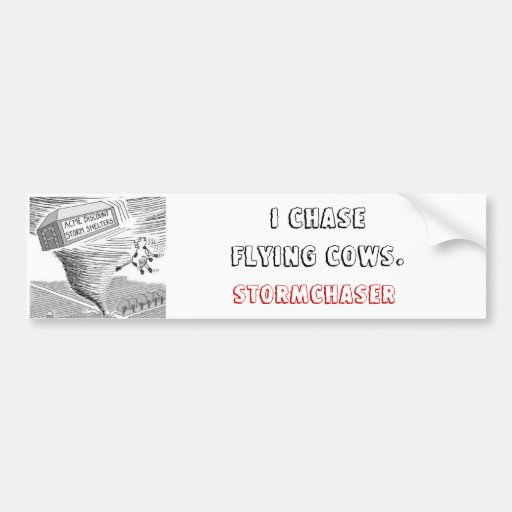 ,I ChaseFlying Cows., STORMCHASER Bumper Stickers
