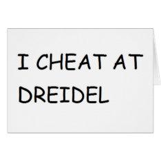 I Cheat At Dreidel Hanukkah Chanukkah Funny Card at Zazzle