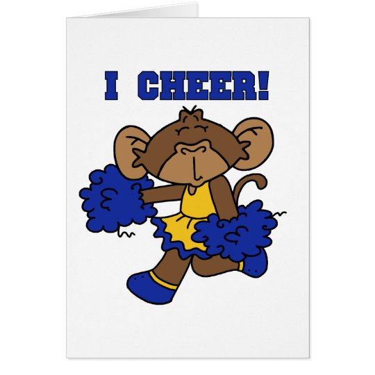I Cheer Blue and Gold Tshirts and Gifts Card