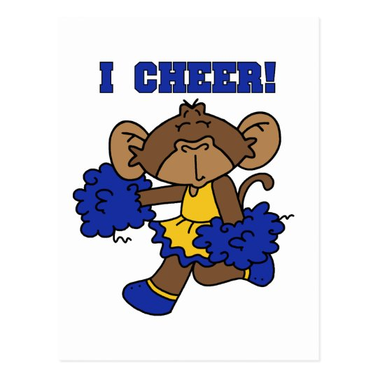 I Cheer Blue and Gold Tshirts and Gifts Postcard