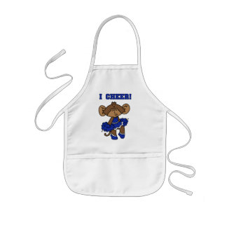 I Cheer Blue and White T-shirts and Gifts Apron