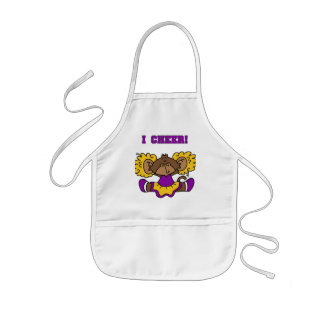 I Cheer Gold and Purple Tshirts and Gifts Aprons