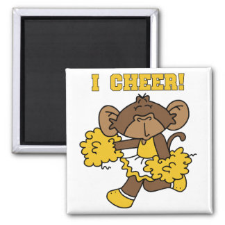 I Cheer Gold and White T-shirts and Gifts Magnet