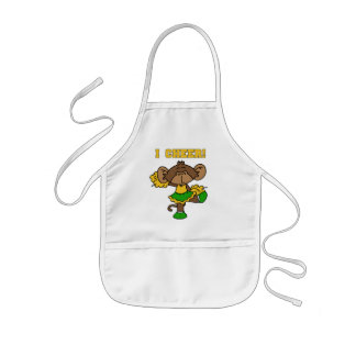 I Cheer Green and Gold T-shirts and Gifts Apron