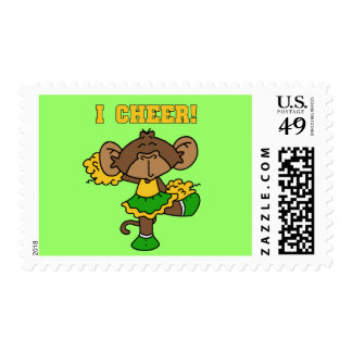 I Cheer Green and Gold T-shirts and Gifts Postage