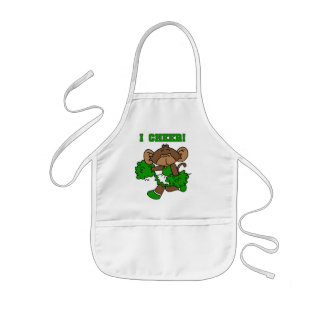 I Cheer Green and White Tshirts and Gifts Apron