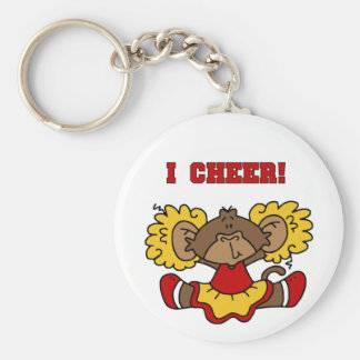 I Cheer Red and Gold T-shirts and Gifts Keychain