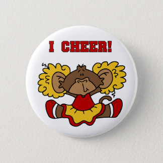 I Cheer Red and Gold T-shirts and Gifts Pinback Button