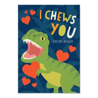 """¡I Chews usted! Tarjeta del día de San Valentín de Invitación 3.5"""" X 5"""""""