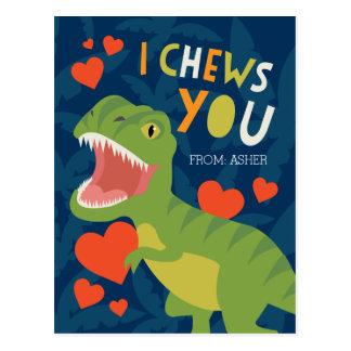 ¡I Chews usted! Tarjeta del día de San Valentín de Tarjetas Postales