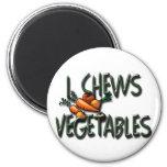 I Chews Vegetables Design Fridge Magnets