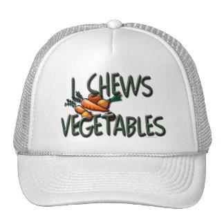 I Chews Vegetables Design Trucker Hat