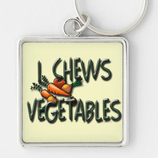 I Chews Vegetables Garden Keychain
