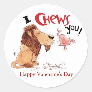 I Chews You Classic Round Sticker