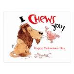 I Chews You Postcards