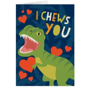 I Chews You! Valentine Card at Zazzle