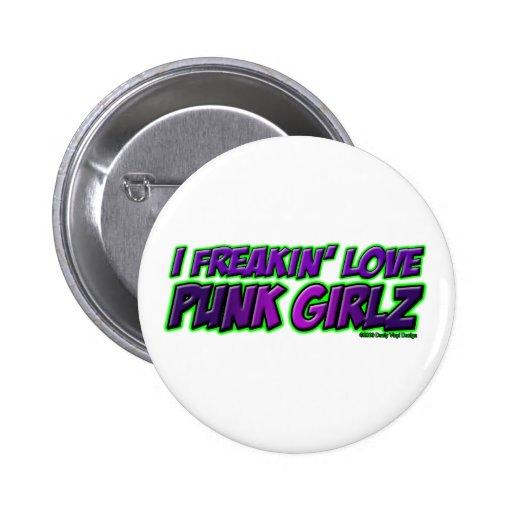 I chica PUNKY del punkrock del punk rock de los CH Pins
