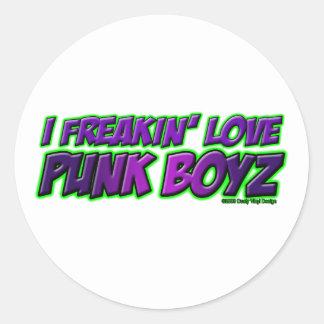 I chica PUNKY del punkrock del punk rock de los MU Etiquetas