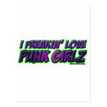 I chica PUNKY del punkrock del punk rock de los Postal