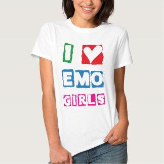 I chicas de Emo del corazón - EmotiTee Playera