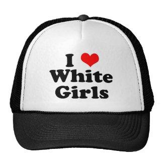 I chicas del blanco del corazón gorros