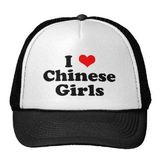I chicas del chino del corazón gorras