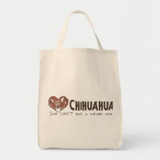 I chihuahua del corazón bolsa tela para la compra