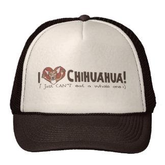 I chihuahua del corazón gorras