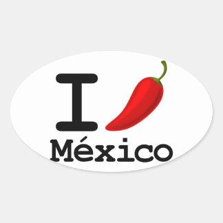 I Chili Mexico Oval Sticker