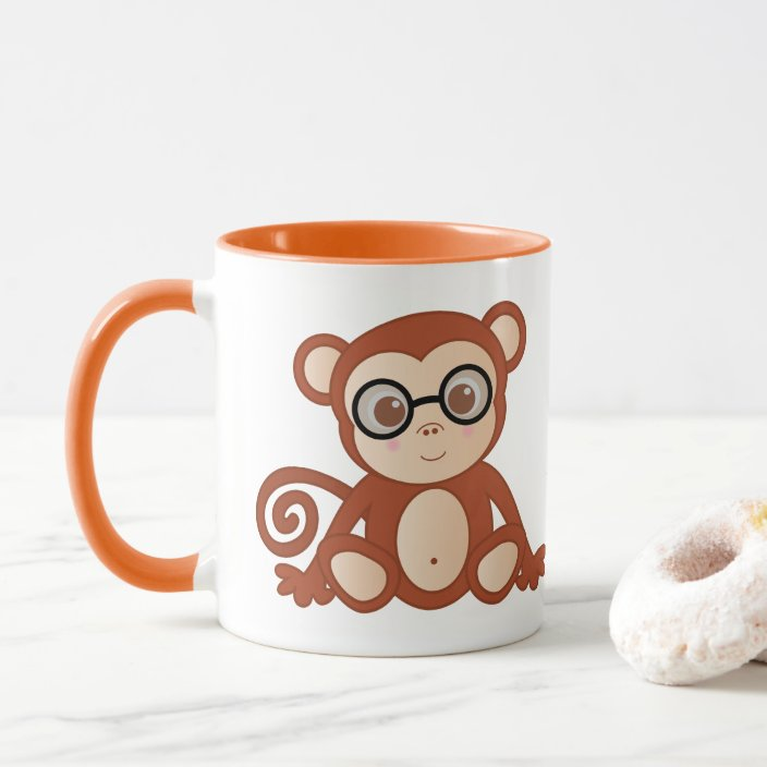 I Chimply Love My Coffee Mug Cute Monkey Cup Zazzle Com